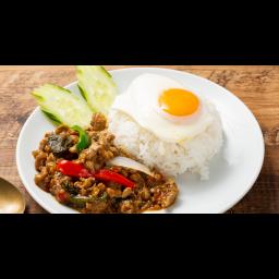 鶏ひき肉のガパオライス