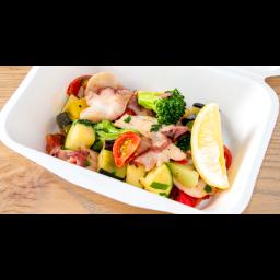 水タコと彩り野菜のアンチョビソテー