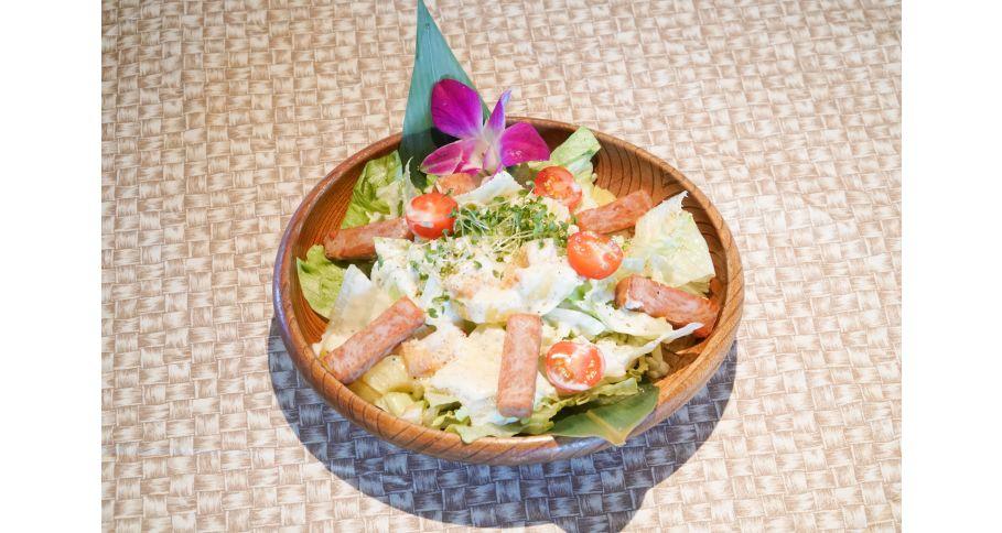 ハワイアンスパムシーザーサラダ