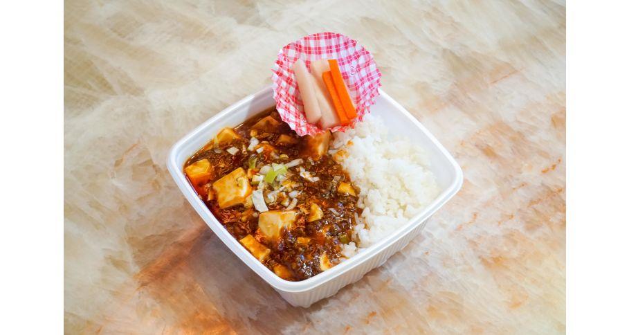 小貝柱入り麻婆豆腐丼