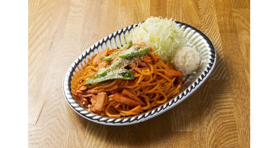 太麺パスタのナポリタン