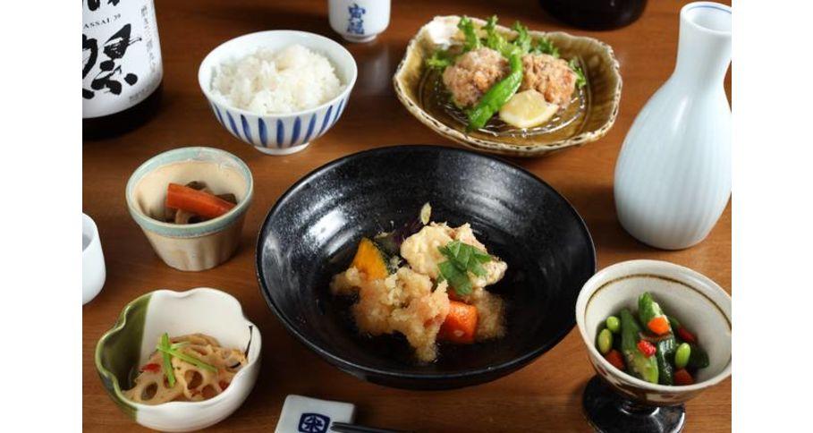 旬魚と野菜の煮おろし&鶏の唐揚げ弁当