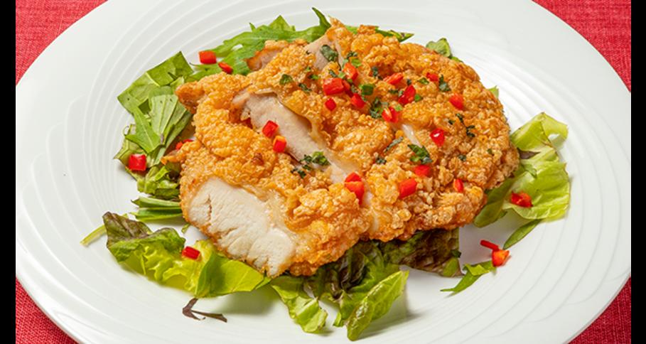 健味鶏の唐揚げ 紫蘇ソース