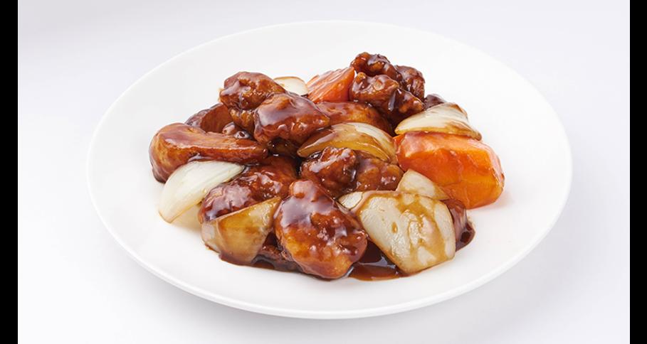 鶏肉の黒酢炒め弁当