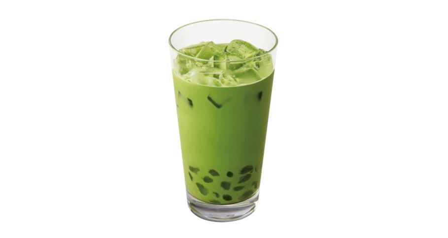 玄米抹茶モチラテ(ICED)