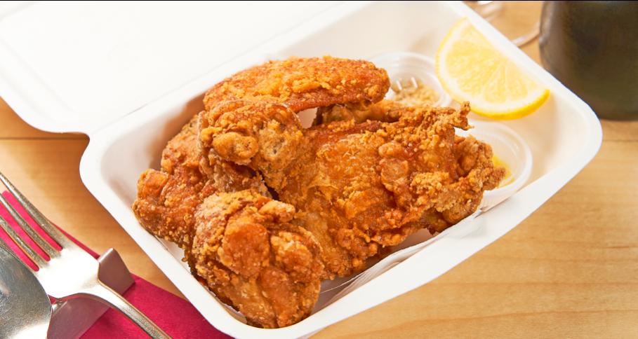 三笠会館特製 骨付き鶏のから揚げ(5ヶ)