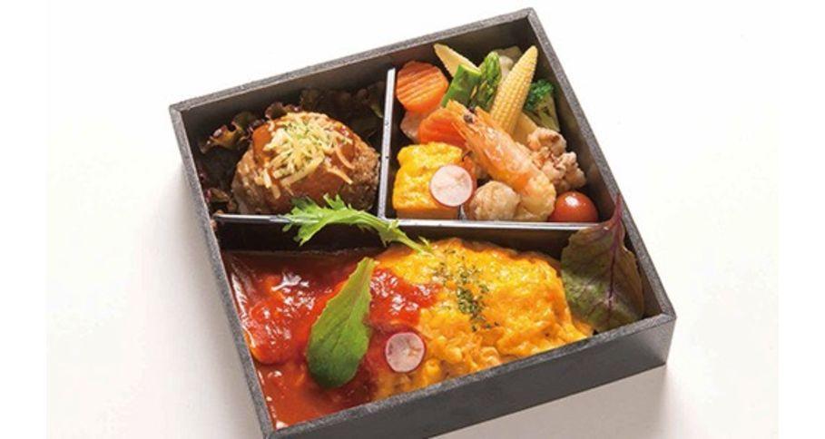 【O6】オムライスチキントマトソース&ハンバーグ御膳