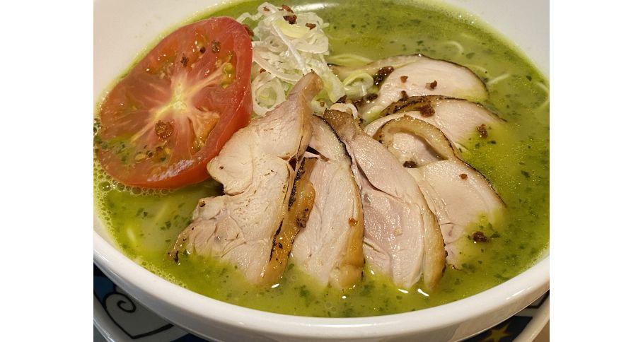 [炙り鶏]ジェノバ白湯麺