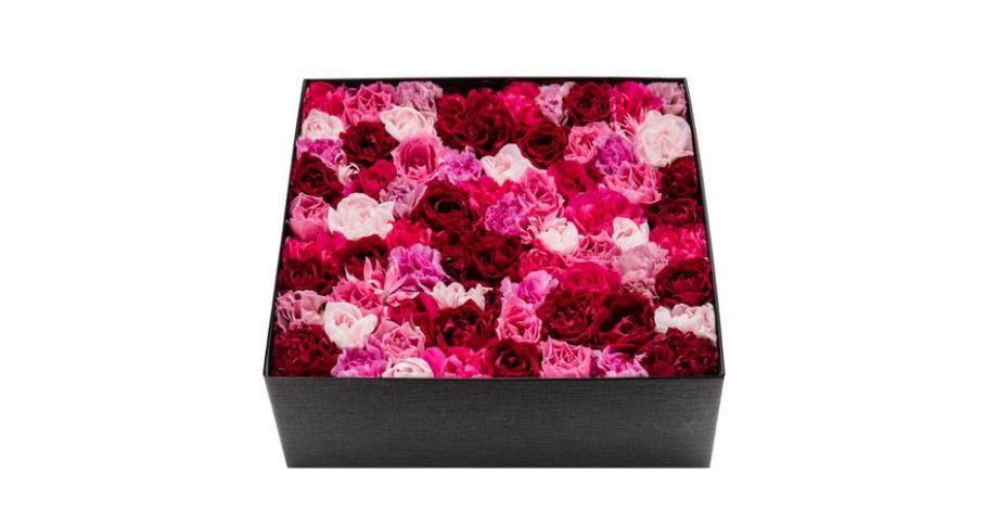 オリジナル フレッシュフラワーボックス L(ピンク・レッド)