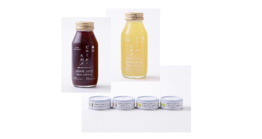 Made in ピエール・エルメ / 缶詰4種とジュース2種