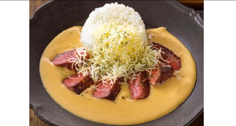牛ハラミステーキのチーズストロガノフ