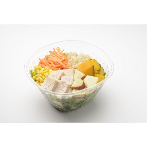 蒸し鶏とりんごの玄米サラダ-0