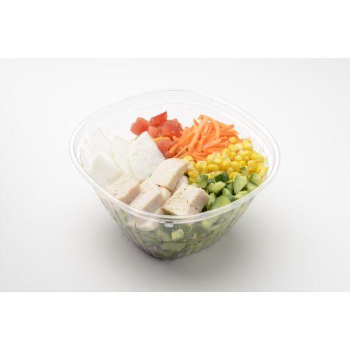 蒸し鶏と彩り野菜たっぷりサラダ-0