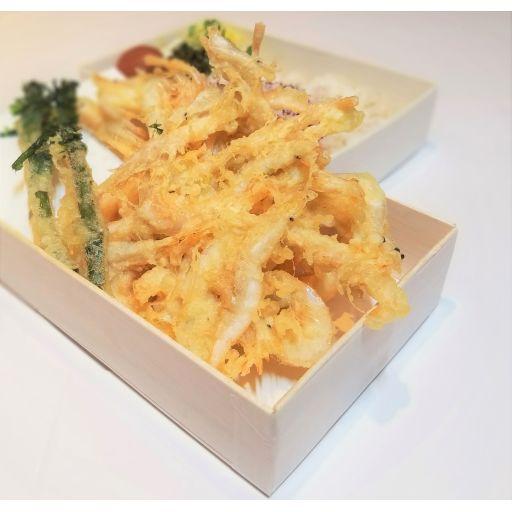当店看板 白えびと青菜の天丼-0