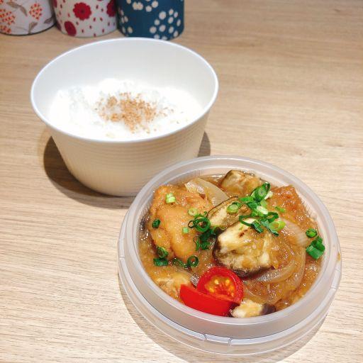 鶏竜田と揚げナスの和風みぞれ煮ボウル -0