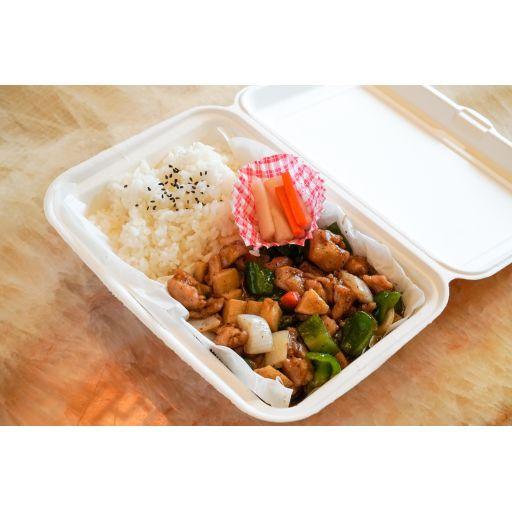 鶏肉の黒胡椒炒め-0