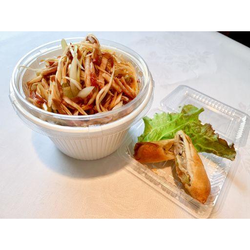 ネギチャーシュー丼+春巻セット-0
