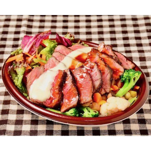 名物ステーキライス(60%が野菜のサラダライス)-0