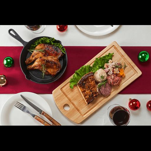 【千駄木腰塚横濱精肉店クリスマス限定】クリスマスローストチキンと贅沢キッシュのオードブルセット