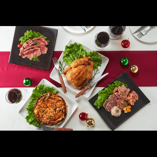 【千駄木腰塚肉横濱精肉店クリスマス限定】国産丸鶏ローストチキンとオリジナルオードブルセット