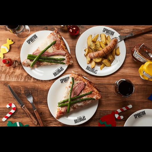 SPONTINIクリスマス限定ピザとアラカルトセット