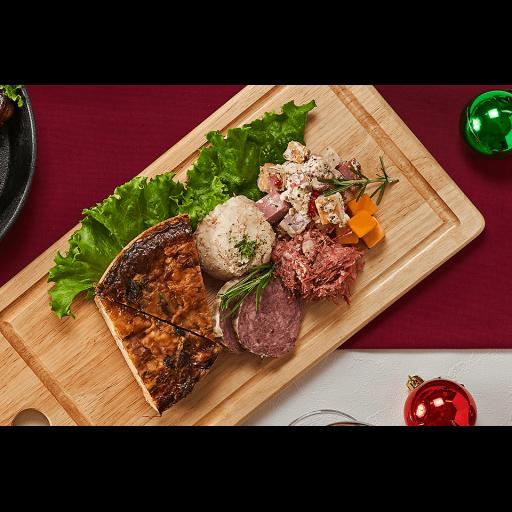 【千駄木腰塚横濱精肉店クリスマス限定】クリスマスローストチキンと贅沢キッシュのオードブルセット-2