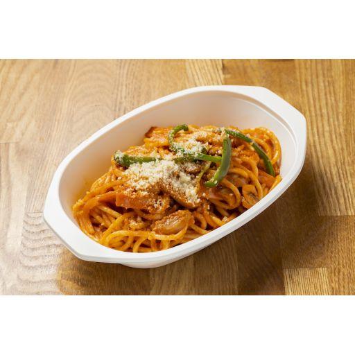 太麺パスタのナポリタン-1