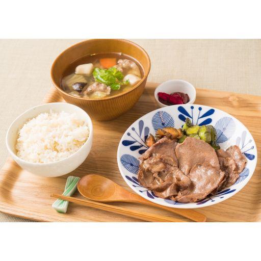 【東北膳】牛タン塩焼きと芋煮汁-0