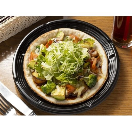 照り焼きチキンとたっぷり野菜のサラダピザ-0
