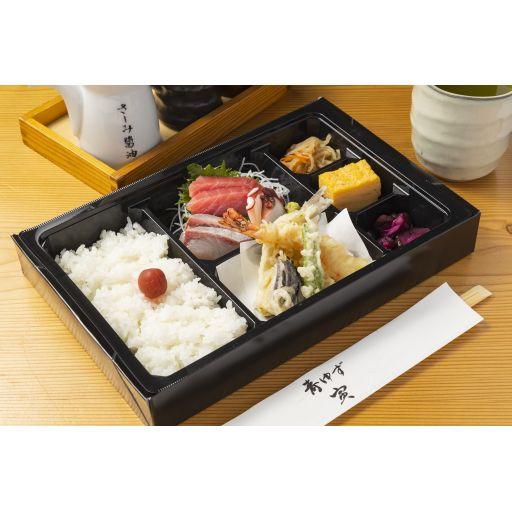 刺身と天ぷら弁当-0