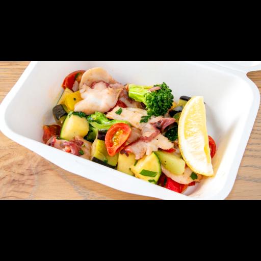 水タコと彩り野菜のアンチョビソテー-0