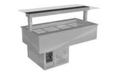 Culinaire Refrigerated Counter Line Cold Well With Flat Glass Gantry