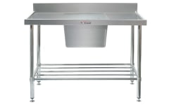 Simply Stainless Sink Bench with Splashback SS05