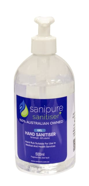 SaniPure 500ml Gel Pump bottle