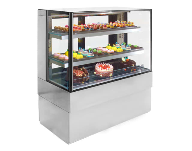 Airex Freestanding Refrigerated Square Food Display AXR.FDFSSQ