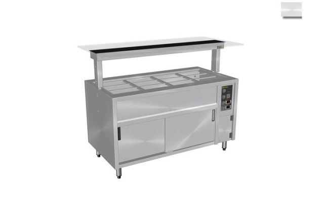 Culinaire Under Bench Counter Line Bain Marie Hot Cupboard With Flat Glass Gantry