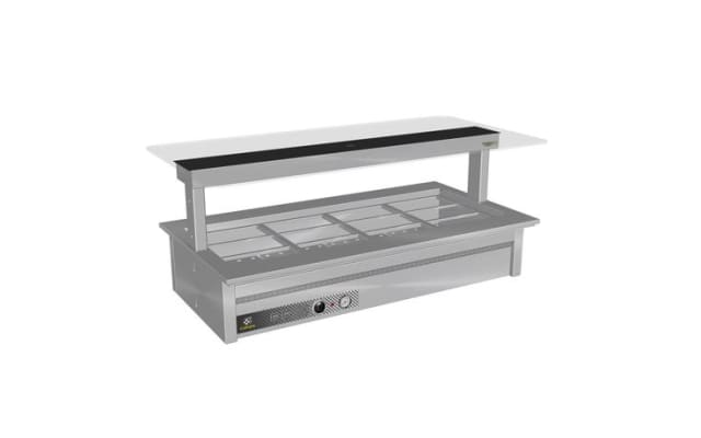 Culinaire Counter Line Bain Marie With Flat Glass Gantry