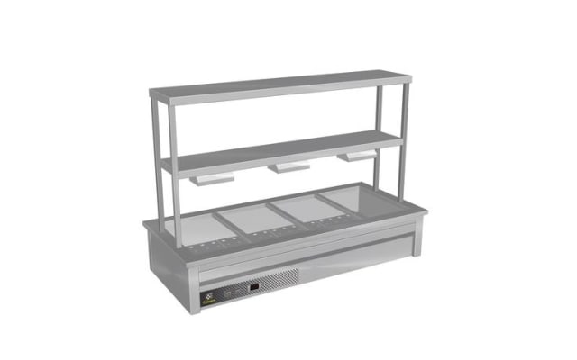 Culinaire Drop In Bain Marie with Double Gantry & Heat Lamps