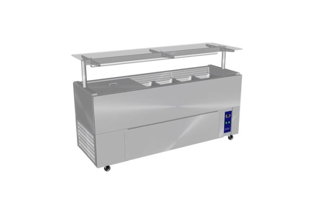 Culinaire Chillair Heavy Duty Mobile Refrigerated Island Buffet With Gantry
