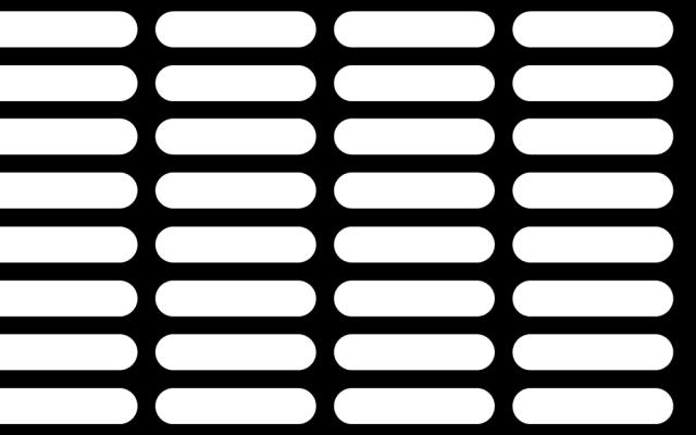 PerfArt Standard Obround Pattern PM.OB.SQH.286064.57