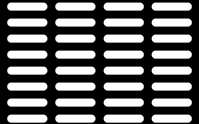 PerfArt Standard Obround Pattern PM.OB.SQH.250050.40