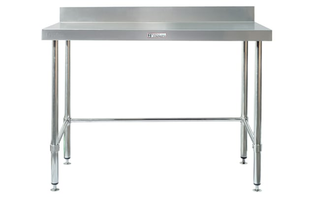 Simply Stainless Work Bench with Splashback SS02