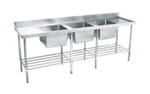 Simply Stainless Triple Bowl Sink Bench SS24