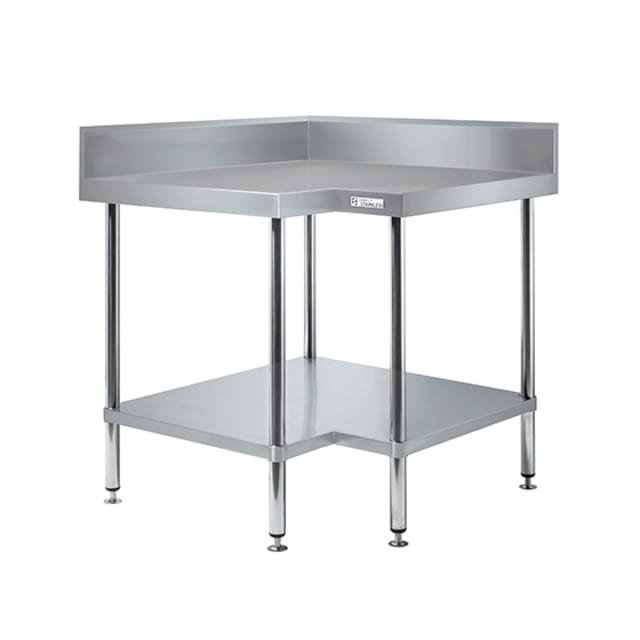 Simply Stainless Corner Bench With Splashback SS04