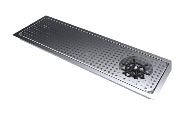 Simply Stainless Bar Module Drip Tray with Glass Rinser
