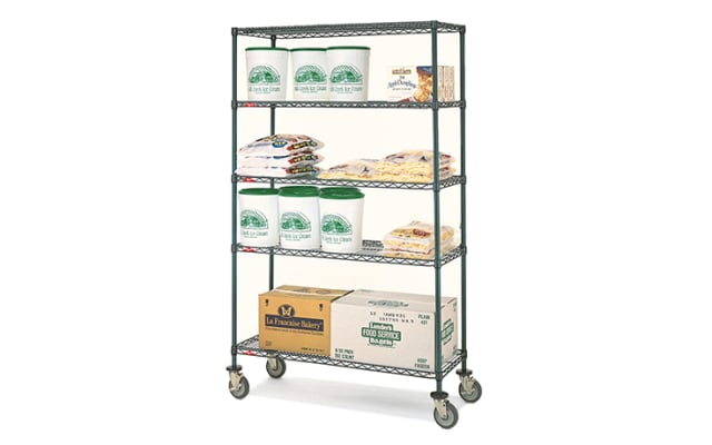 Metro Super Erecta Wire Shelving - Mobile 5 Tier