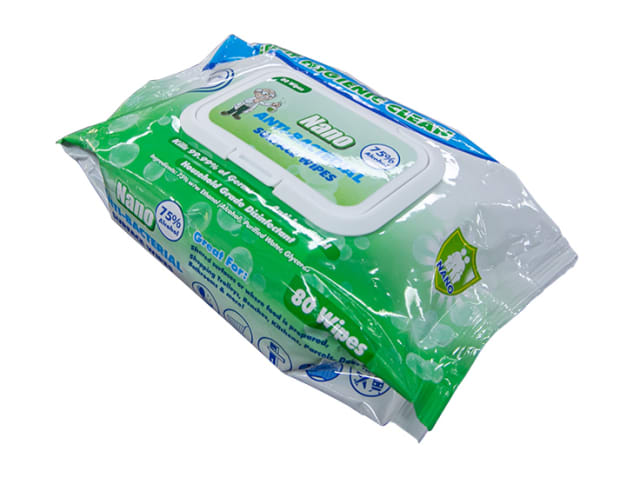 Nano Acti-Bacterial Disinfectant Wipes - 24 x 80 Wipe Packs