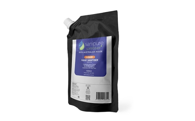 Sanipure Alcohol Free Hand Sanitiser 1L Refill Pouch HSLX.SP01L