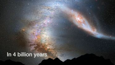 Andromeda-Milky Way Collision - Fate of the Solar System