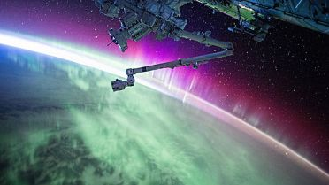 Solar Flares - Aurora from Space